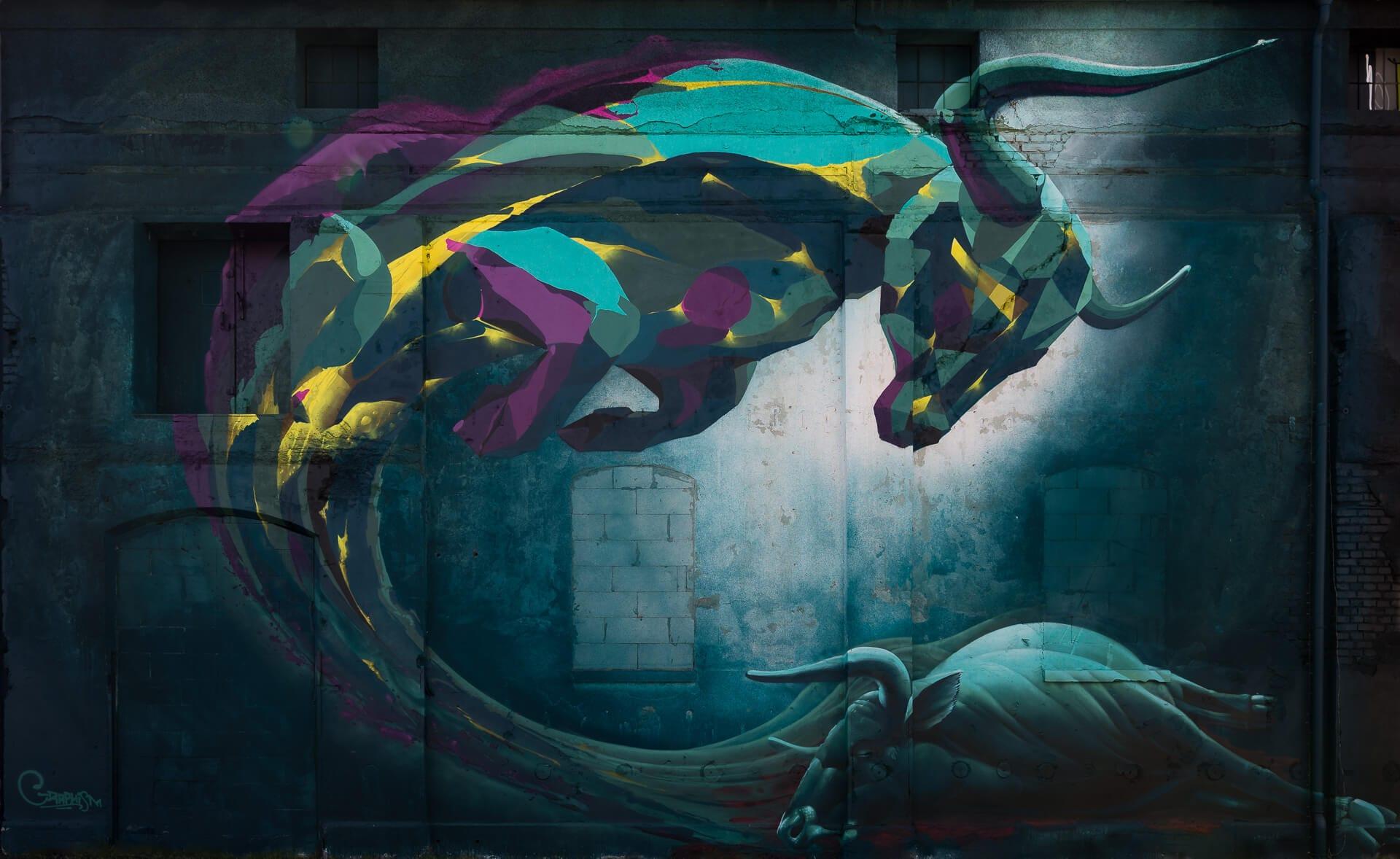 Stier von Graphism | Streetart